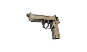 "Beretta's new M9A3 comes in a desert tone, while the M9 is black. The new gun has a ""sand resistant"" magazine with a capacity for 17 rounds. The company said the new guns would cost less than the current models, but did not provide details of the price differential. In the civilian market, the M9 retails for about $550."