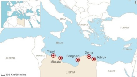 Location of Derna, courtesy of CNN