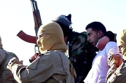 Jordanian Pilot POW, courtesy of Al Jazeera