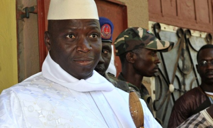 Gambian president Yahya Jammeh, courtesy of the Guardian