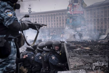 Berkut in Kiev, courtesy of the NYT.