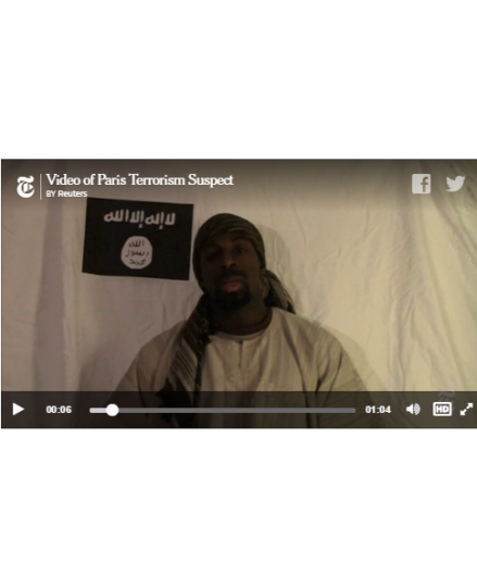 Amedy Coulibaly's video, courtesy of the NYT
